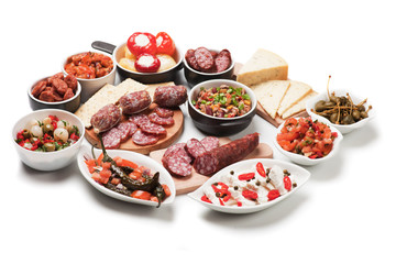 Tapas or antipasto meal