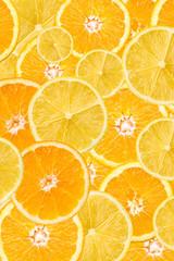 Orange And Lemon Slice Abstract Seamless Pattern