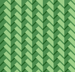 Green three dimensional rectangle pattern