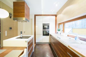 Bright kitchen in modern house