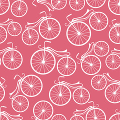 Retro circuit of bicycles pattern