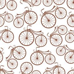 circuits of retro bicycles pattern