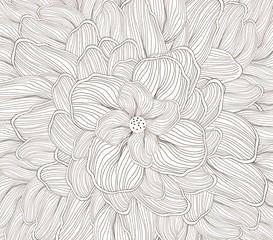 flower sketch doodle background