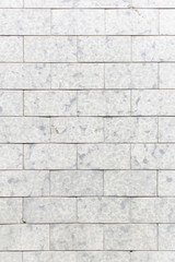 Clear tiles on wall