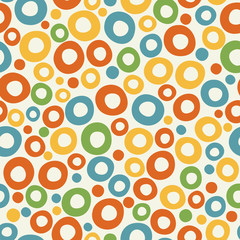 Colorful funky bubble background. Vector graphic template.