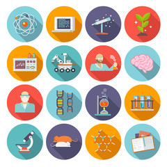 Science And Research Icon Flat