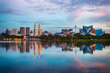 Photo sur Aluminium Kuala Lumpur Kuala Lumpur Skyline
