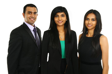 Asian Indian businesspeople in group isolated.
