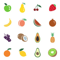 Vector Set of Fruit Icons