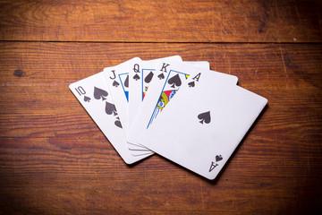 Royal Flush spades
