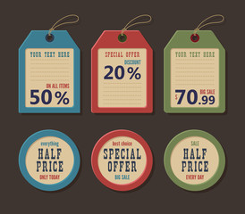 Price tag and label