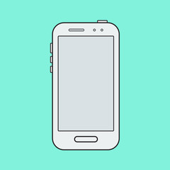 White grey cellphone mockup in modern line design