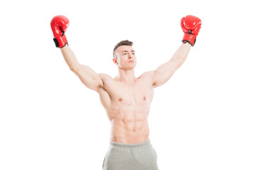 Winner or champion boxer