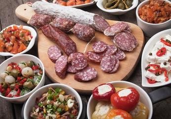Spanish tapas food