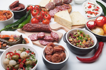 Spanish tapas menu