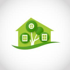 eco house symbol