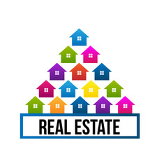 Real estate houses logo card