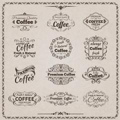 Coffee Emblem Set
