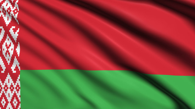 Belarus flag with fabric structure