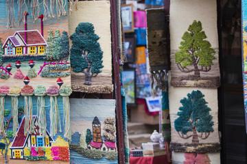 Shop of Thamel market in Kathmandu, Nepal