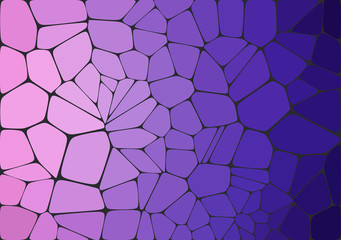 Flat Style. Violet mosaic abstract background