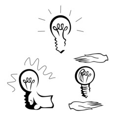 Light Bulb. The idea of businesses. Vector illustration.