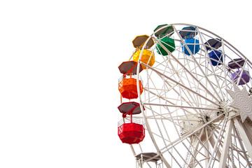 Ferris wheel on white Wall mural