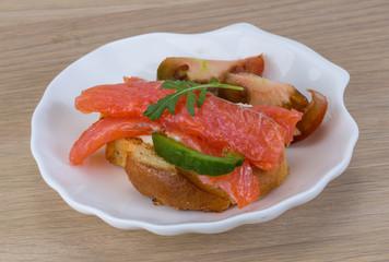 Tapas with salmon
