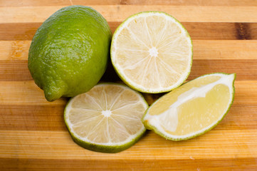 lime on the wooden background