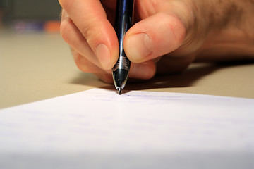 signature sur papier