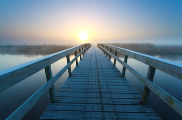 bridge to sunrise sun