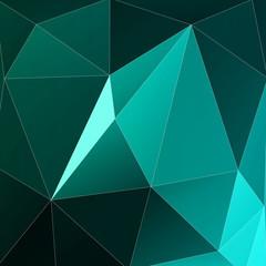 Geometrical turquoise background