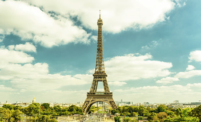 Eiffel tower, Paris skyline