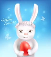 Cute Easter bunny. Vector