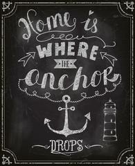 Chalkboard Motivational Poster, Sailing