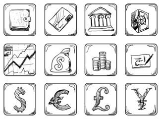 Money icons.