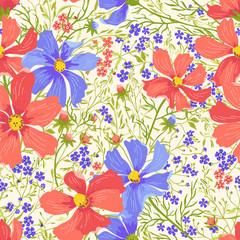 Seamless floral pattern.