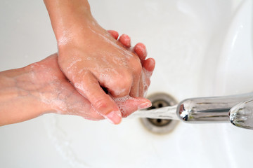 Washing Hands. Cleaning Hands