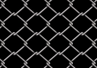 mesh wire for fencing on a black background
