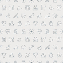 Sport line icon pattern set