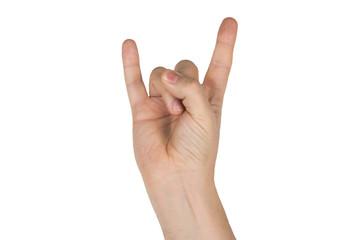 hand heavy metal
