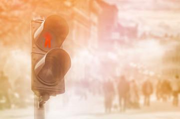 Red traffic light for Pedestrians