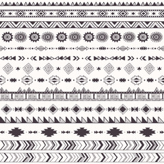 Seamless pattern with tribal motifs