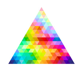 Triangle Color Palette Guide Spectrum Vector