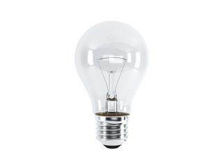 Lightbulb on a white background (render)