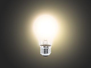 Lightbulb on a dark background (render)