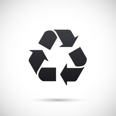 Recycle sign. Vector icon isolated on white background