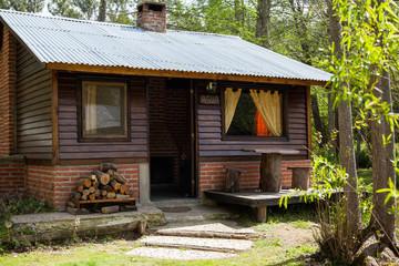 Exterior Of Wooden Cabin