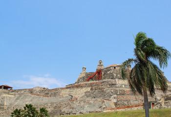Castillo San Felipe fortress in Cartagena, Colombia.