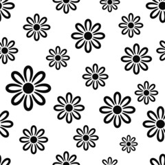 Texture with black flower